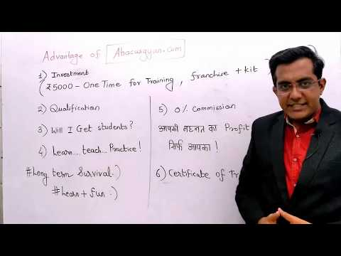 HOW TO MAKE Rs.10,000 PART TIME WITH ABACUS Franchise  - How To Make Money Online