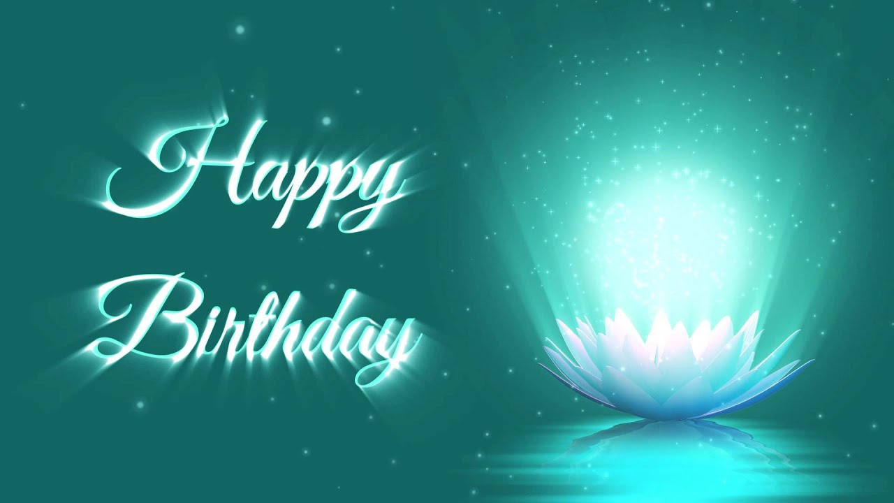 Happy birthday lotus flower animation motion graphics background happy birthday lotus flower animation motion graphics background youtube thecheapjerseys Gallery