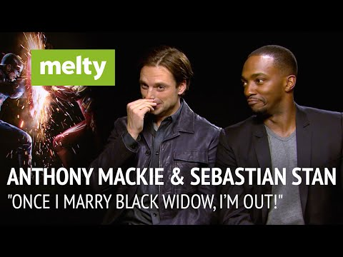 "Anthony Mackie & Sebastian Stan Interview: ""Once I Marry Black Widow, I'm Out!"""