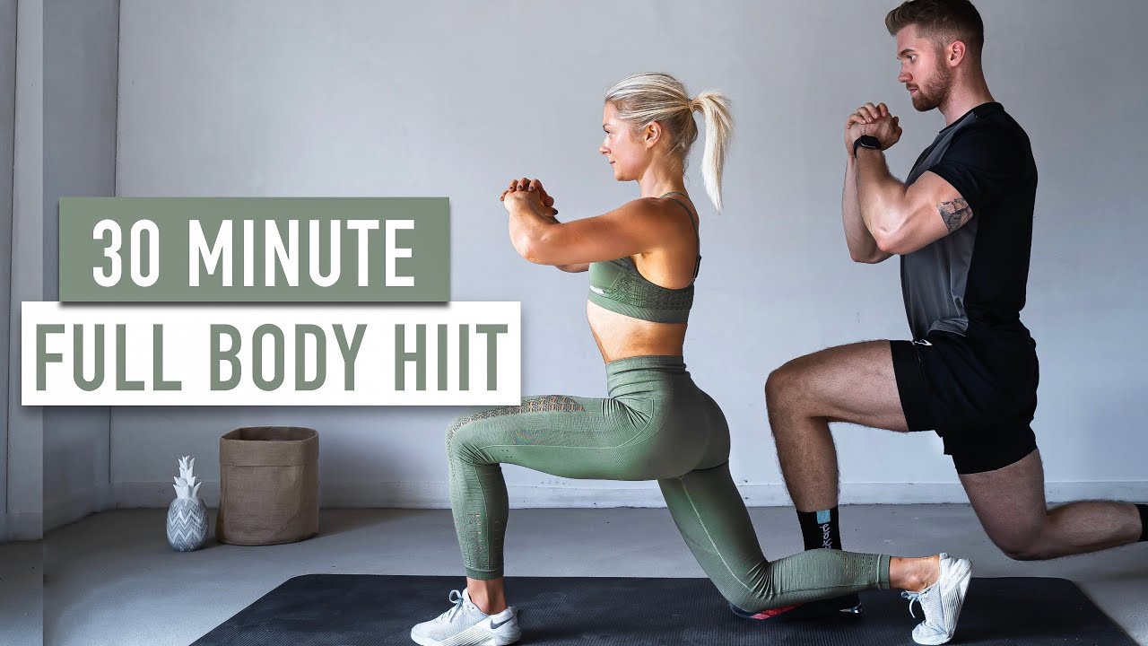 30 MIN FULL BODY HIIT (No Jumping + No Equipment)
