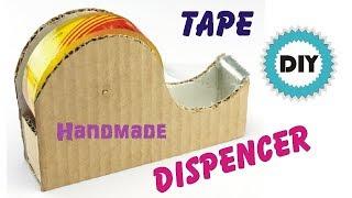 Handmade Tape Dispenser | DIY | How to Make Tape Cutter Using Cardboard | Tape Dispenser Homemade