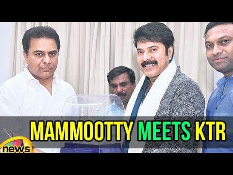 Mammootty meets KTR | Mommootty at CM Camp Office | Startups Entrepreneur Awards | Mango News