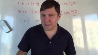 Сумма и разность синусов. Алгебра 10 класс