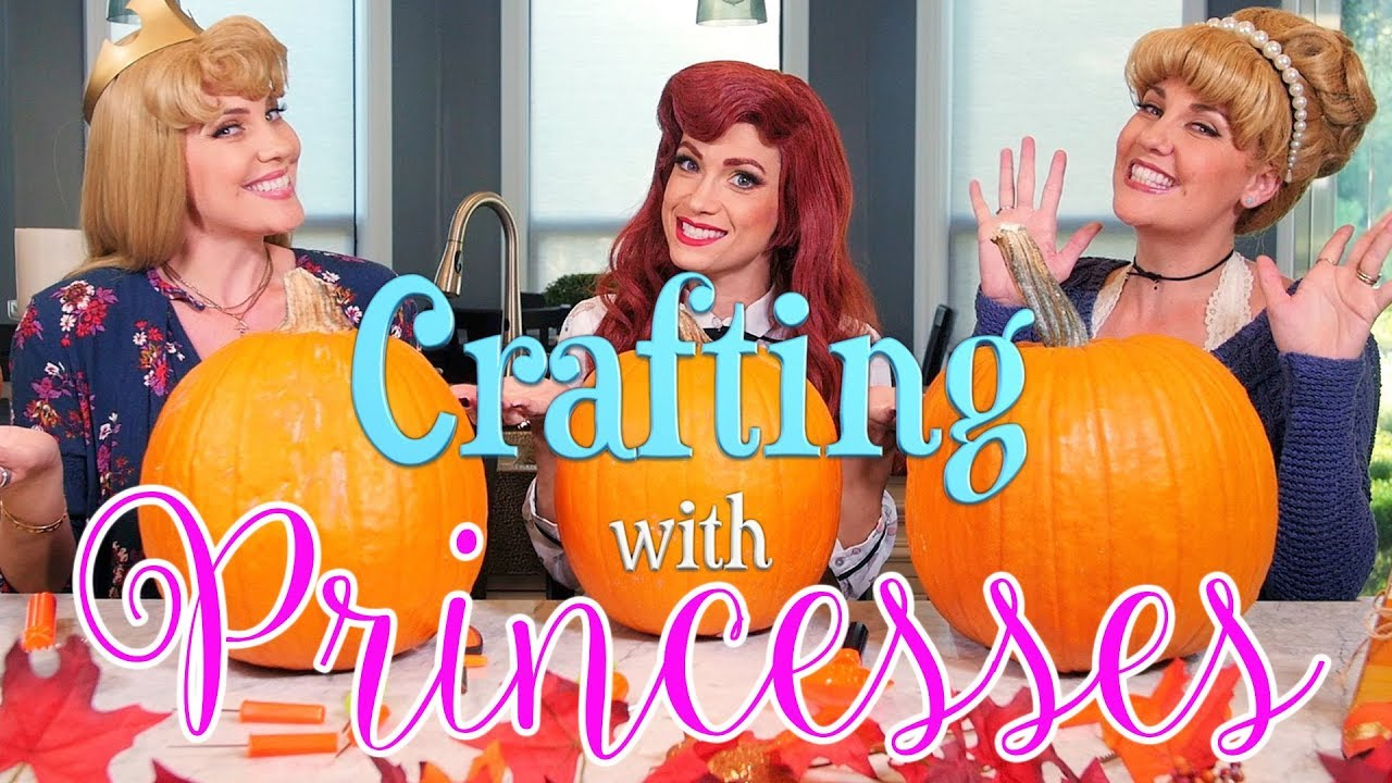 Crafting with Disney Princesses - Pumpkin Carving!  sc 1 st  YouTube & Crafting with Disney Princesses - Pumpkin Carving! - YouTube