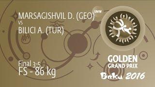 BRONZE FS - 86 kg: D. MARSAGISHVIL (GEO) df. A. BILICI (TUR) by TF, 11-0