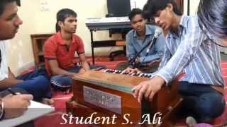Mumbai Film Academy student live practicing and singing