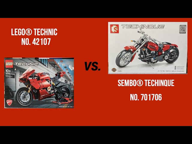 LEGO® Technic No.42107 vs. Sembo® Techinque No. 701706 oder einfacher ausgedrückt, HOT vs. SCHROTT!!