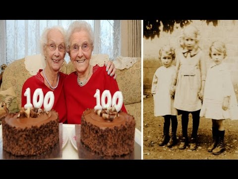Twins Celebrate Their 100th Birthday With Cards From The Queen In UK