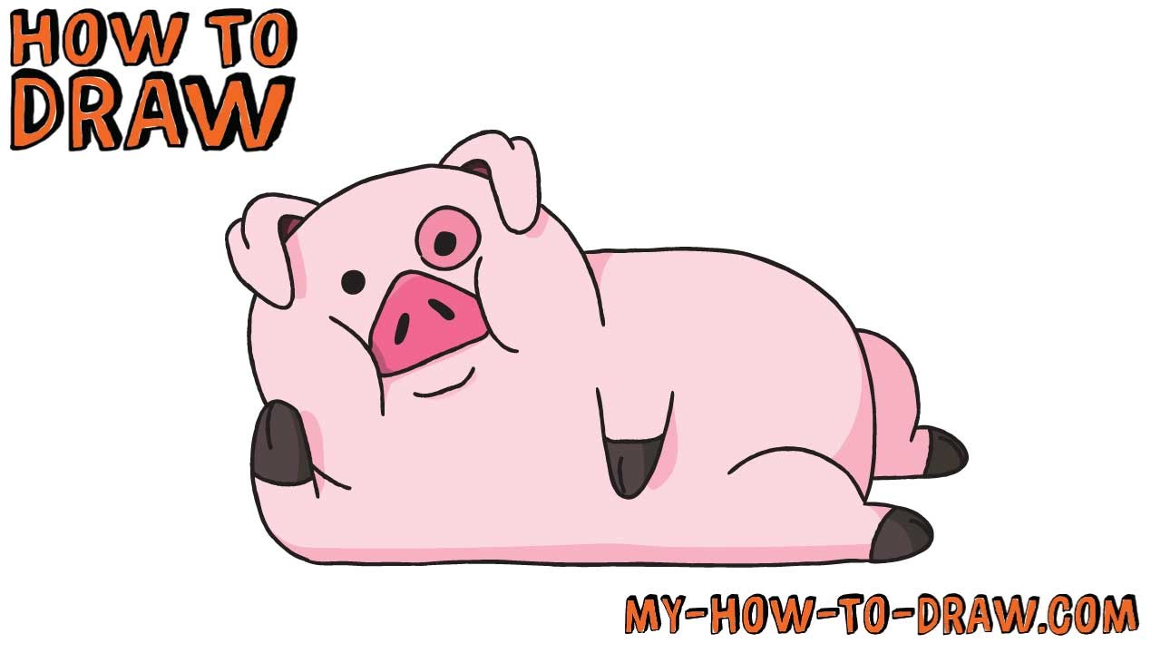 Uncategorized Easy Draw Pig how to draw waddles gravity falls easy step by drawing tutorial youtube