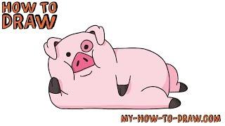 איך לצייר חזיר חמוד