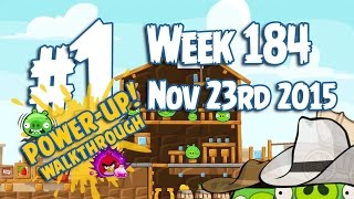 Angry Birds Friends Wild West Tournament Level 1 Week 184 Power Up Highscore Walkthrough