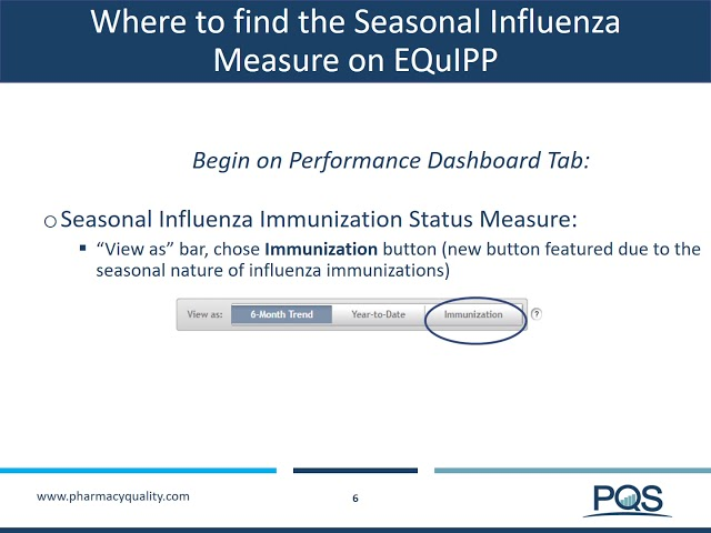 EQuIPP QUIKTRAIN Focus on Seasonal Influenza Immunization