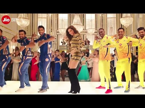DEEPIKA PADUKONE in new JIO Ad for Chennai Super Kings and Mumbai Indians IPL Teams.