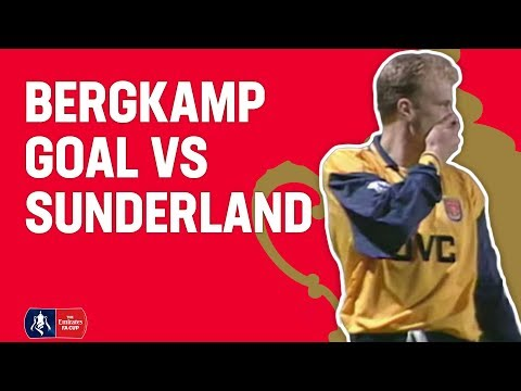 Bergkamp scores a beauty v Sunderland in 1997 | From The Archive