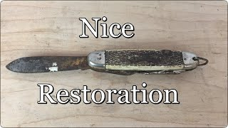 Folding Knife Restoration | Pocket Knife Restoration | COMPLETE RESTORATION