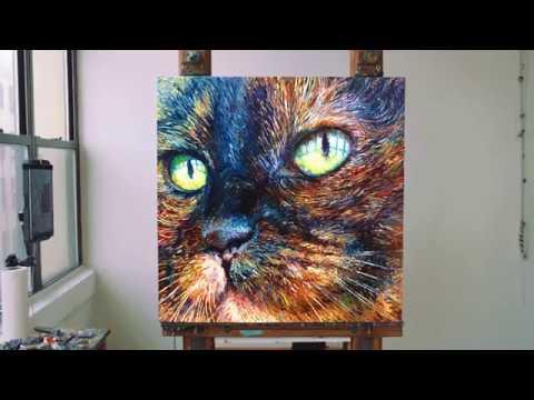 "Iris Scott  |  New ""Foxy"" Finger Painting"