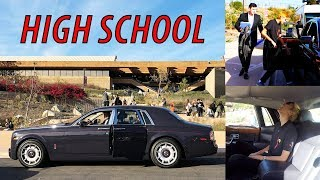 Getting picked up from High School in a Rolls Royce!