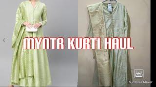 MYNTR EORS SALE HAUL|MYNTRA KURTI HAUL|MYNTR ONLINE SHOPPING