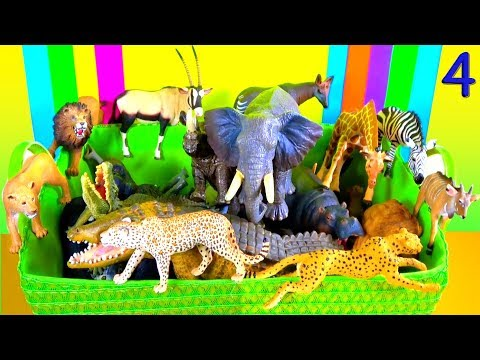 Pelajari Tentang Binatang Buas! Binatang Safari Afrika 🦁 Kebun Binatang - Mainan Edukatif