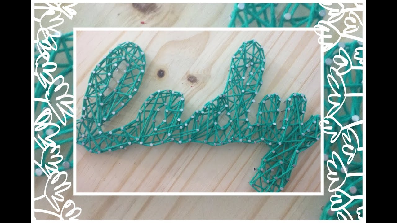 DIY Nail String Art Tutorial - YouTube