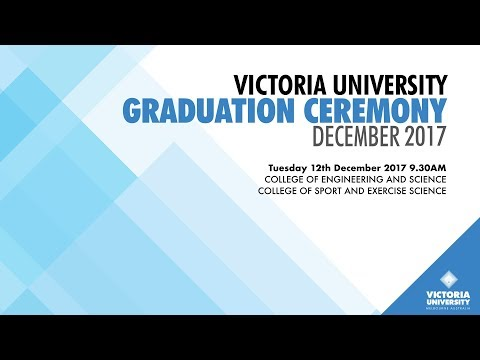 Victoria University, December 2017 Graduation. Ceremony 1