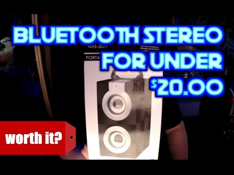 Naxa NAS 3077 portable bluetooth stereo system unboxing and review