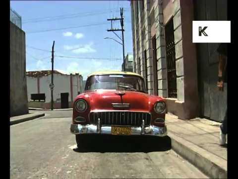 1990s Santiago Cuba Streets, Cars