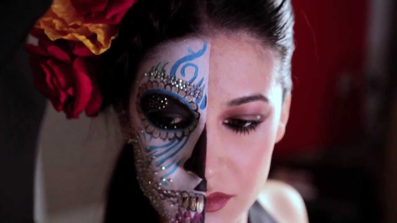 Maquillaje d a de los muertos catrina youtube - Maquillage dia de los muertos ...