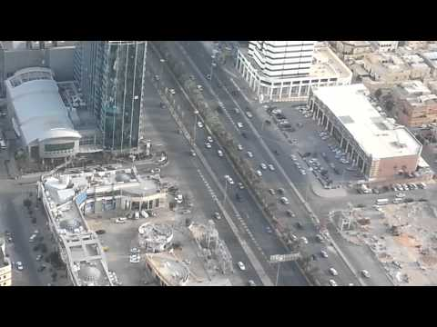 Kingdom Tower centre Riyadh - view From 100th Floor (SKY Bridge)