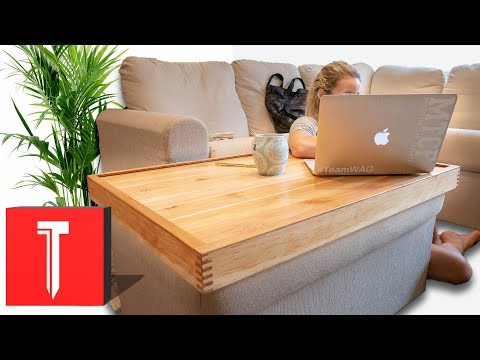 Ottoman Tray Table DIY!