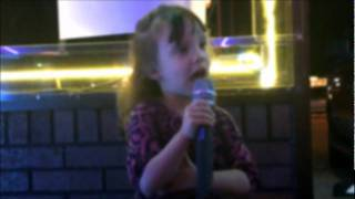 "Cute 3 yr old girl singing karaoke ""Little White Church"" by Little Big Town"