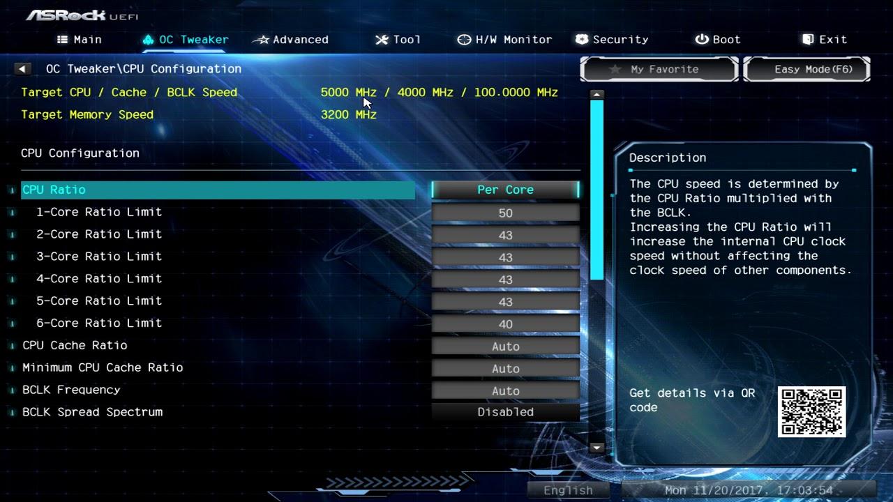 Asrock z370 Extreme 4 OC tweaker functionality