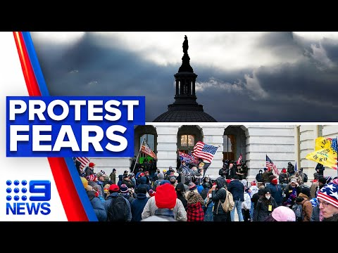 Protest fears as new Capitol riots footage released | 9 News Australia thumbnail