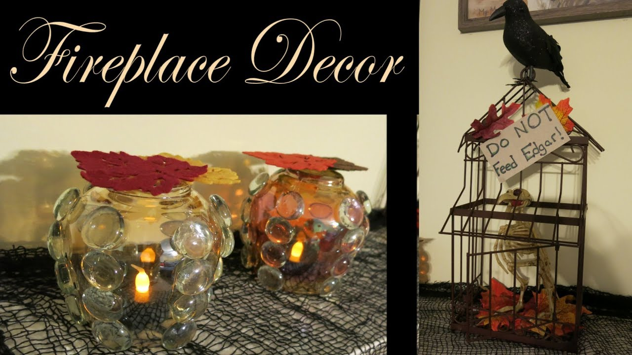 Easy Fireplace Mantel 🎃 Halloween Decorations
