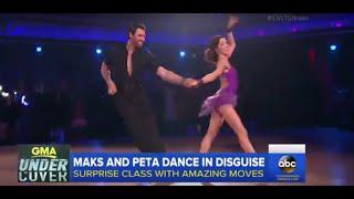 dwts maks and peta prank dance class   gma