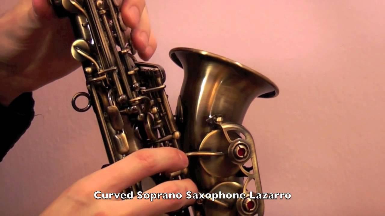 curved soprano saxophone lazarro demo review youtube. Black Bedroom Furniture Sets. Home Design Ideas