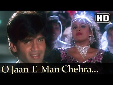 O Jaanemann Chehra Tera - Suneil Shetty - Shilpa Shirodkar - Raghuveer - Hindi Song