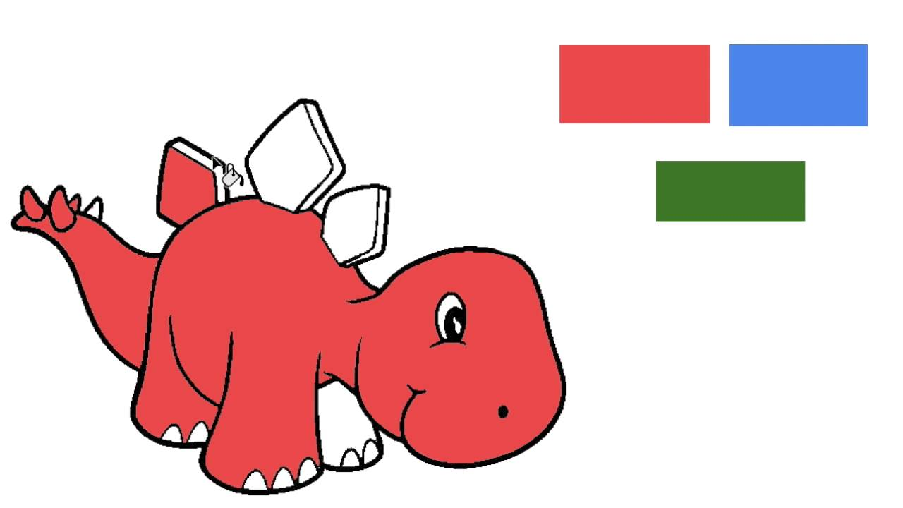 dinosaurios infantiles: colores para niños - YouTube