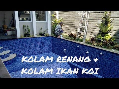 kolam renang minimalis & kolam ikan koi - youtube