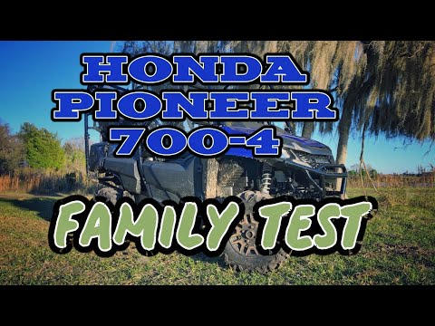 2019 Honda Pioneer 700-4 Family Test! 4-up offroading at the Jeep Ranch