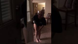 Brother comes home early from Navy & surprises sister