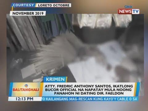BT: Atty. Fredric Anthony Santos, ikatlong BuCor official na napatay mula noong...