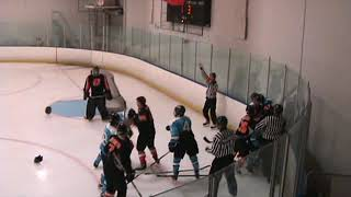 ca titans vs ochc l1 3 in a very physical hockey game in simi valley california