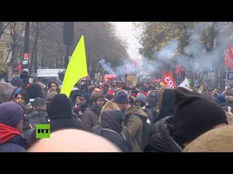 París vivió una jornada de furia: hubo enfrentamientos en las calles y saqueos