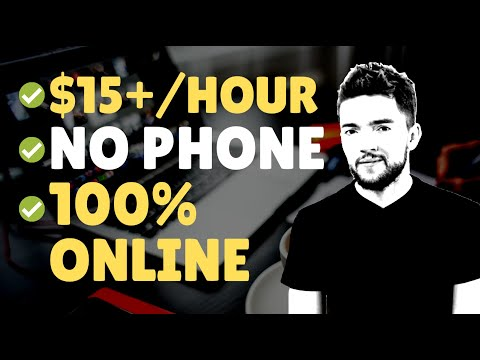Easy No-Phone $15 per Hour Online Jobs Hiring NOW 2020
