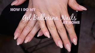 How I do my Gel Ballerina Nails at Home | Banggood Gel Nails set
