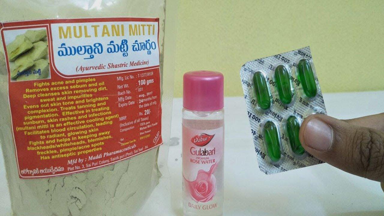 Multani Mitti Rose Water Amazing Beauty Tips   Get Instant Fair Face Glowing Skin Beauty Tips Telugu