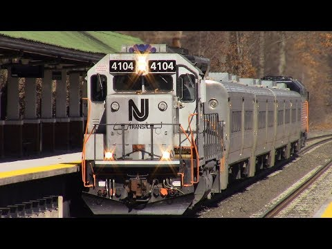 Wednesday NJ Transit Railfanning at Ridgewood Part 1