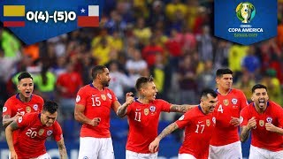 Chile elimina a Colombia | Colombia 0 (4) - (5) 0 Chile | Copa América | Televisa Deportes