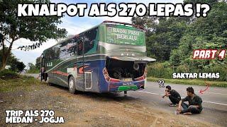 Download lagu Trouble Lagi, KNALPOT BUS HILANG DI JALAN!? | Trip Bus ALS 270 Medan - Jogja Ep 4
